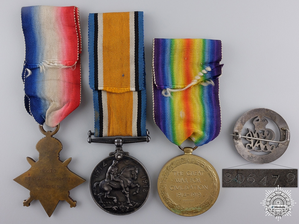 A First War Medal Group to the Manchester Regiment