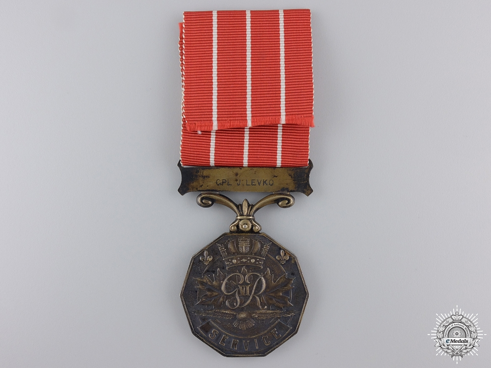 A Canadian Forces Decoration Corporal J. Levko