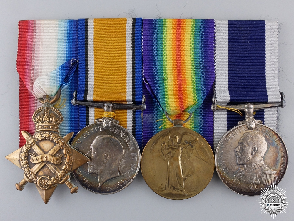 A First War Royal Navy Long Service Group to H.M.S. Hercules
