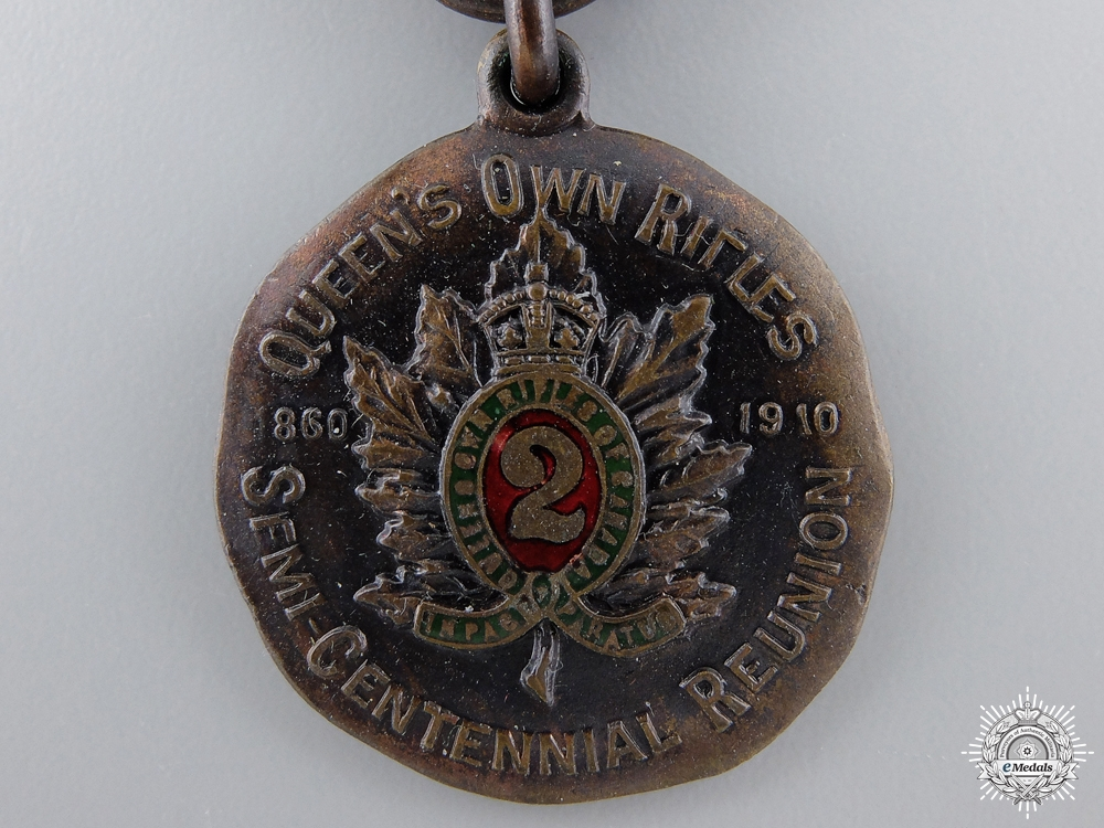 A 1910 Queen`s Own Rifles 50th Anniversary Medal   consignment 14