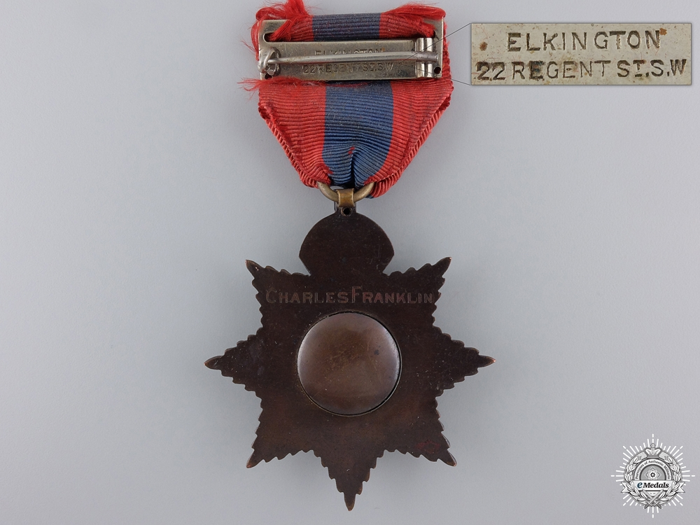 A George V British Imperial Service Medal to Charles Franklin