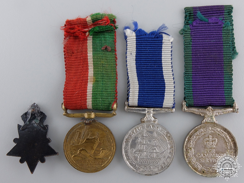 Four Miniature British Campaign & Service Medals