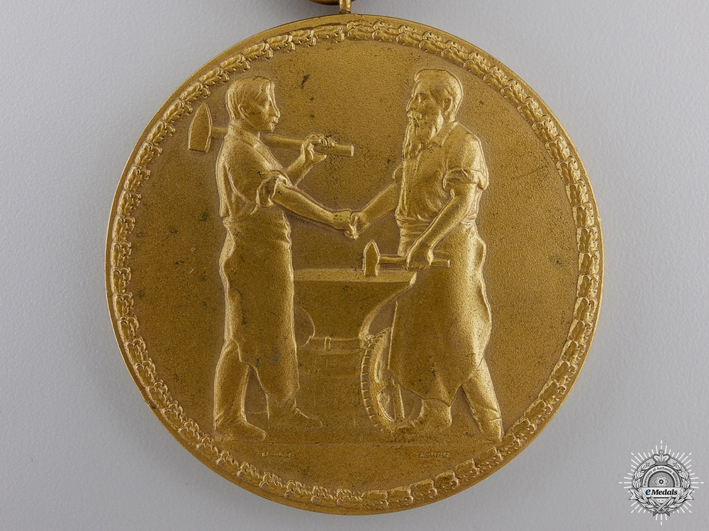 A 1935 Middle Franconia Chamber of Industry Faithful Service Medal