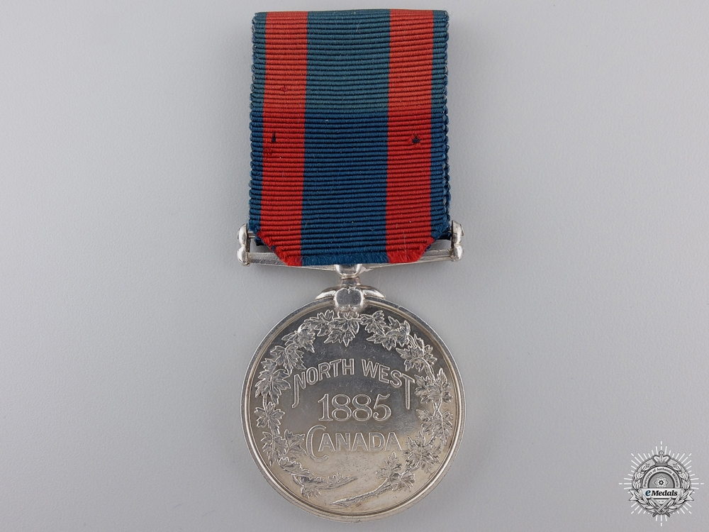 An 1885 North West Canada Medal  to Color Sergeant Hector Sutherland