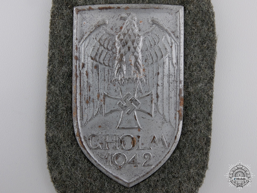 An Army Issued Cholm Campaign Shield