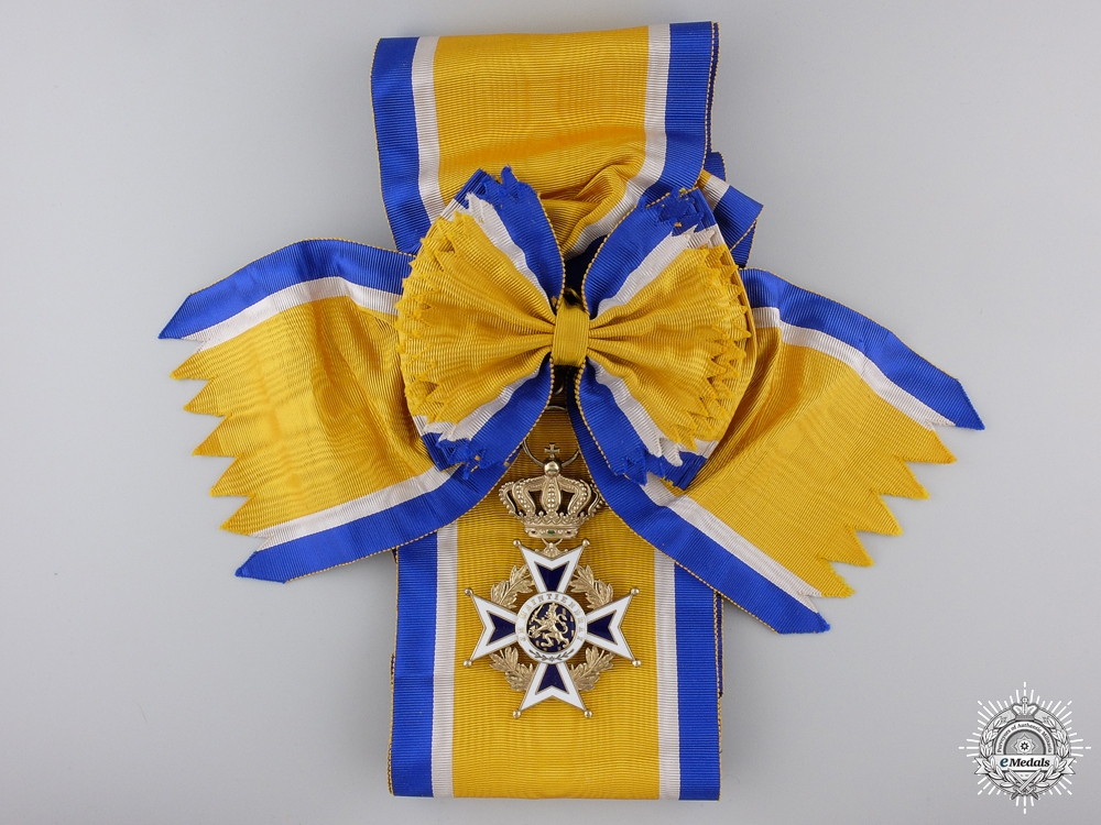 A Dutch Order of Orange Nassau; Grand Cross Set