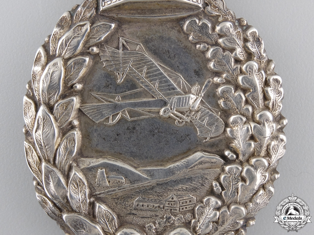 A First War Juncker Imperial Prussian Flying Badge with Photo