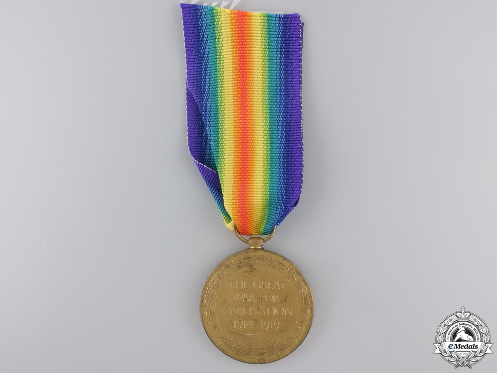A First War Canadian Victory Medal to Lieutenant J.H. Ingersoll