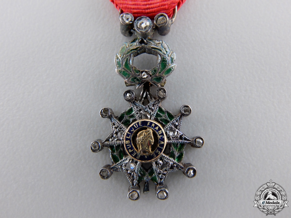 A French Legion D'Honneur in Gold and Diamonds