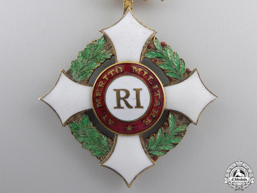 An Italian Military Order of Savoy; Officer's Cross