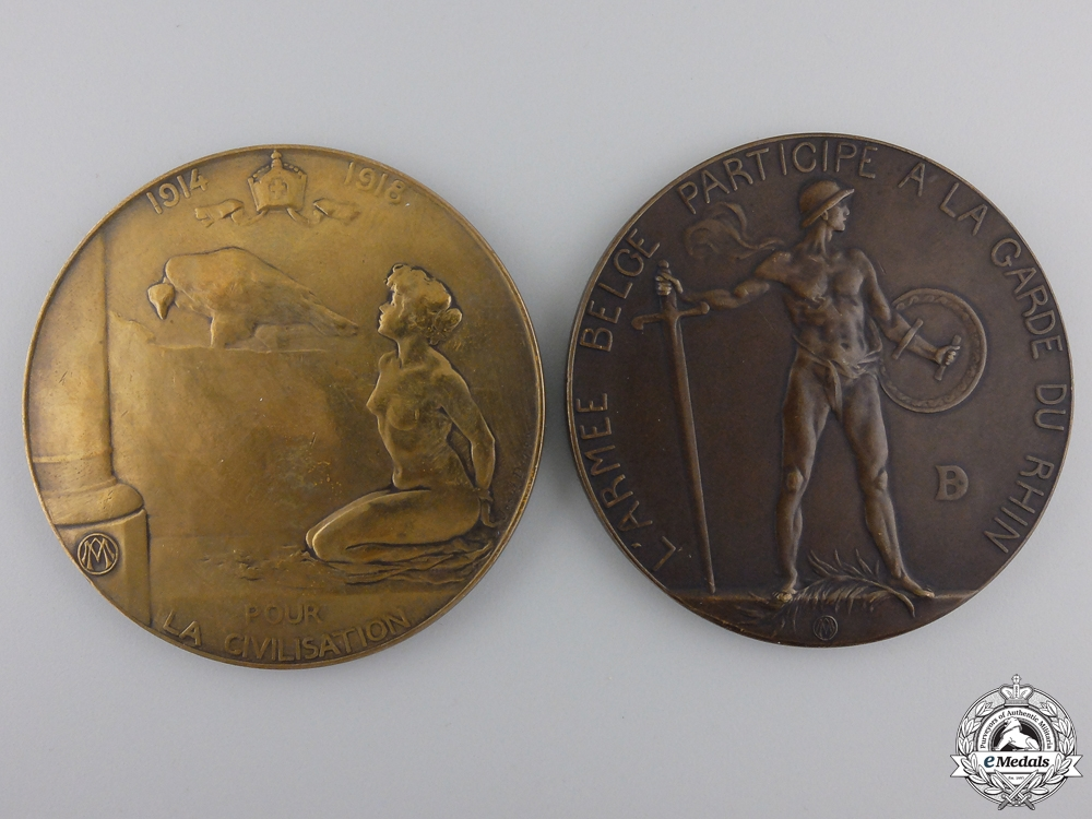Two First War Belgian Table Medals