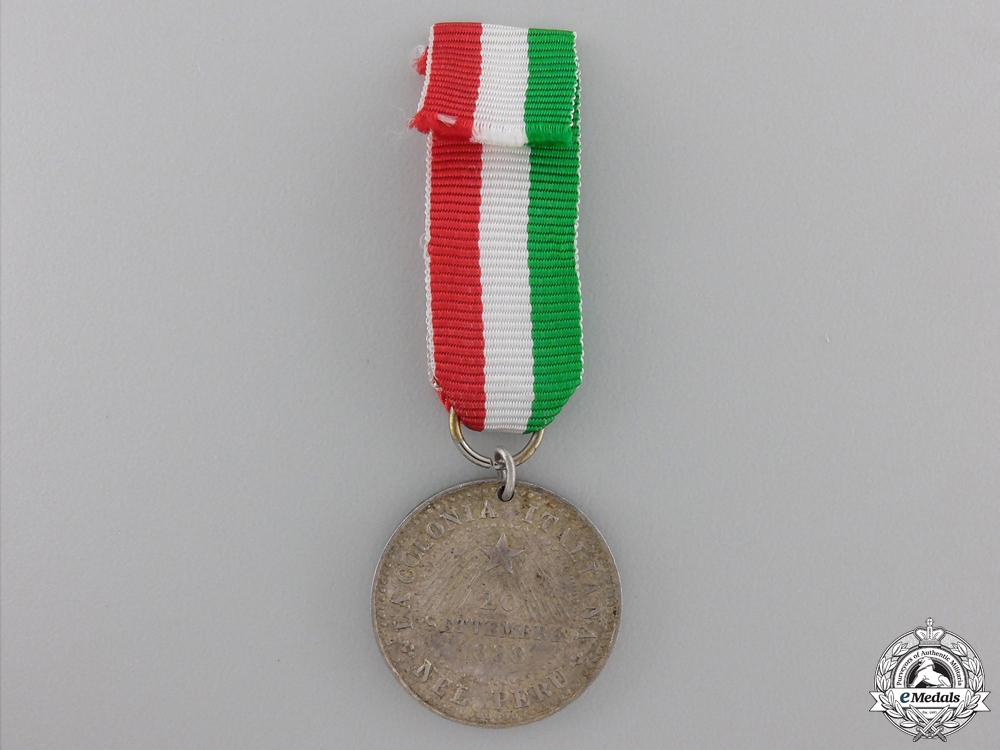 An 1888 Italian Colony in Peru Medal