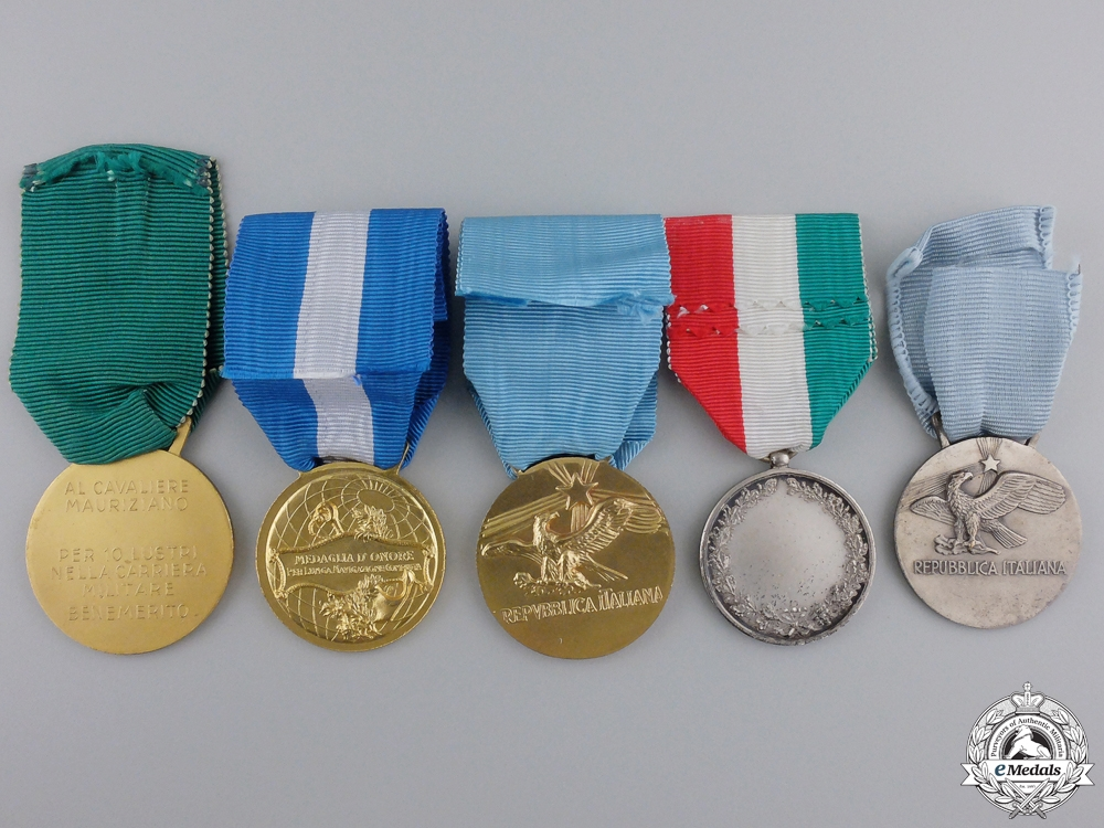 Five Republican Era Italian Medals & Awards