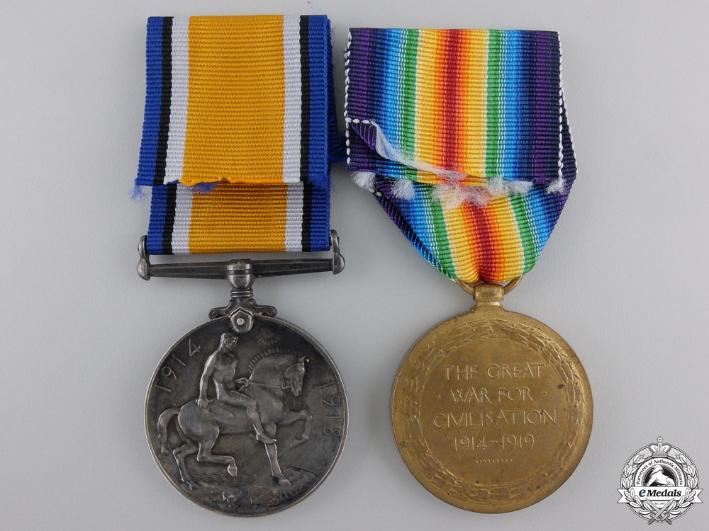 A First War Medal Pair to the Army Service Corps