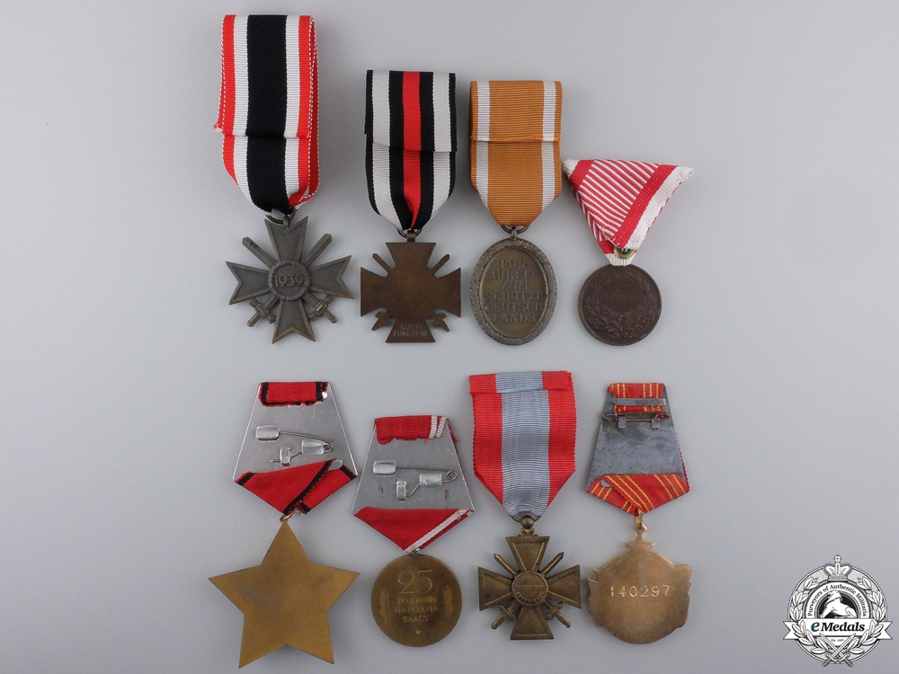 A Lot of Eight European Medals & Awards