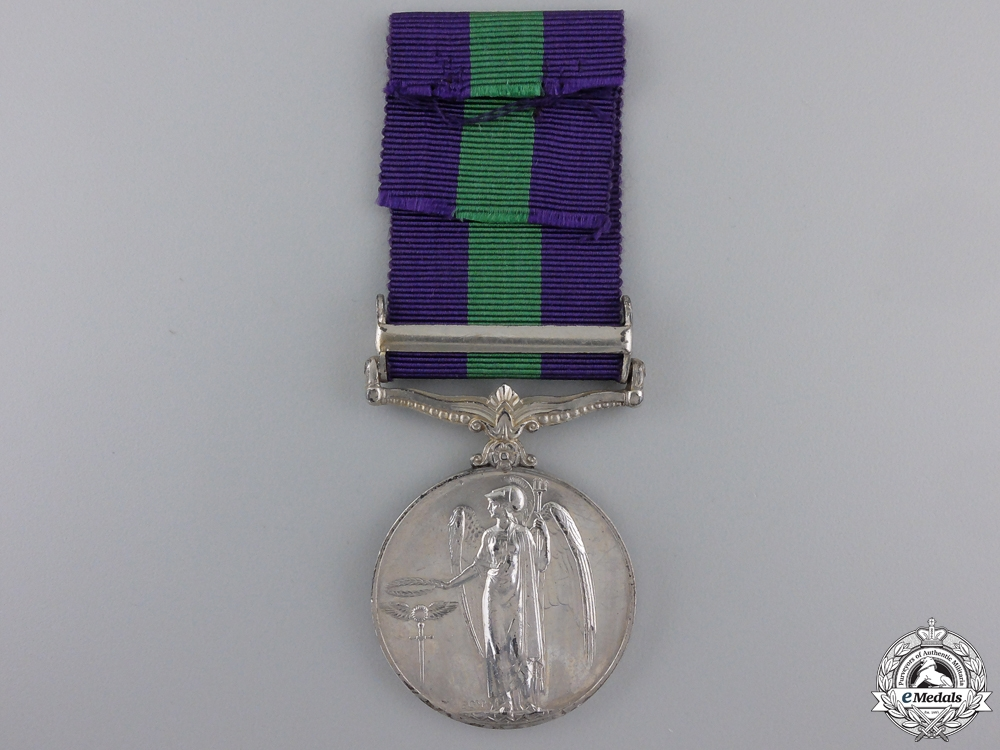 A General Service Medal to the Royal Army Service Corps
