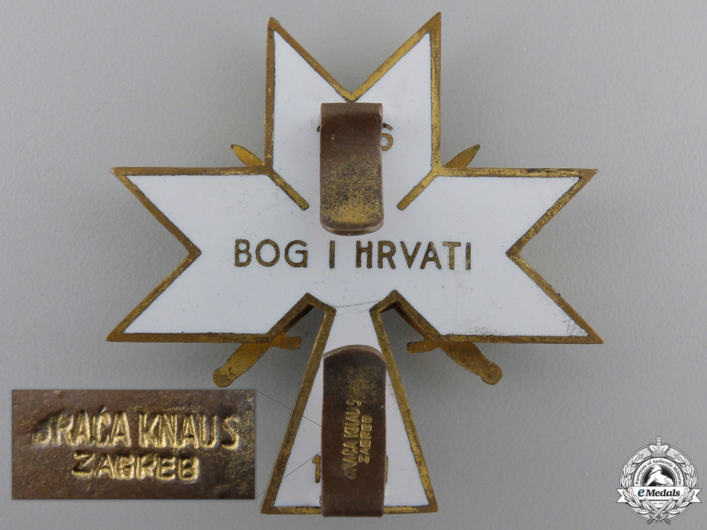 A Croatian Order of King Zvonimir; Second Class with Swords