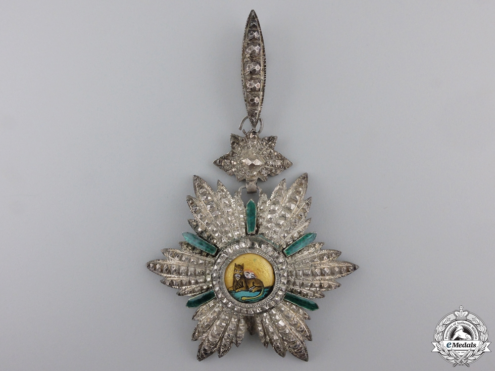 An Iranian Order of the Lion and Sun; Commander's Neck Badge
