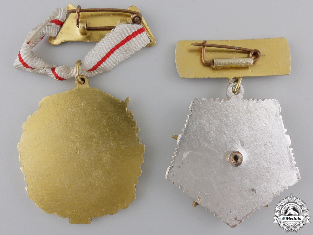 Two Albanian Motherhood Medals