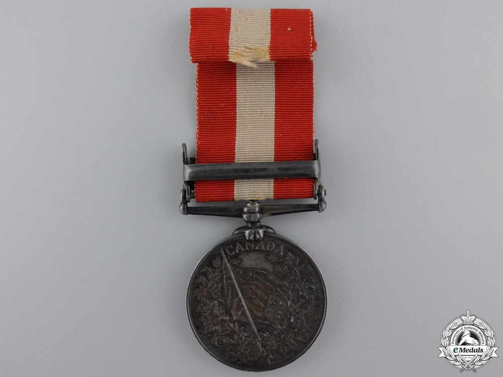 A Canada General Service Medal to 13th Bn; Ridgeway Participant