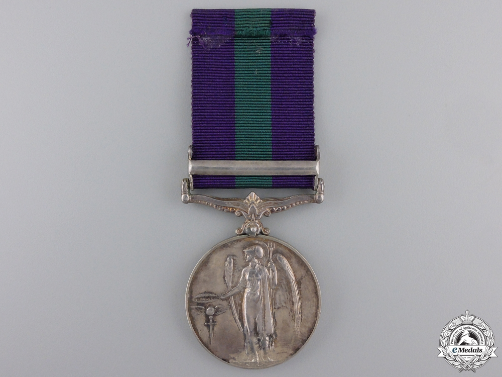 A General Service Medal to the Highland Light Infantry