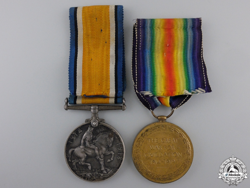 A First War Medal Pair to the Royal Scots; Battle of the Somme