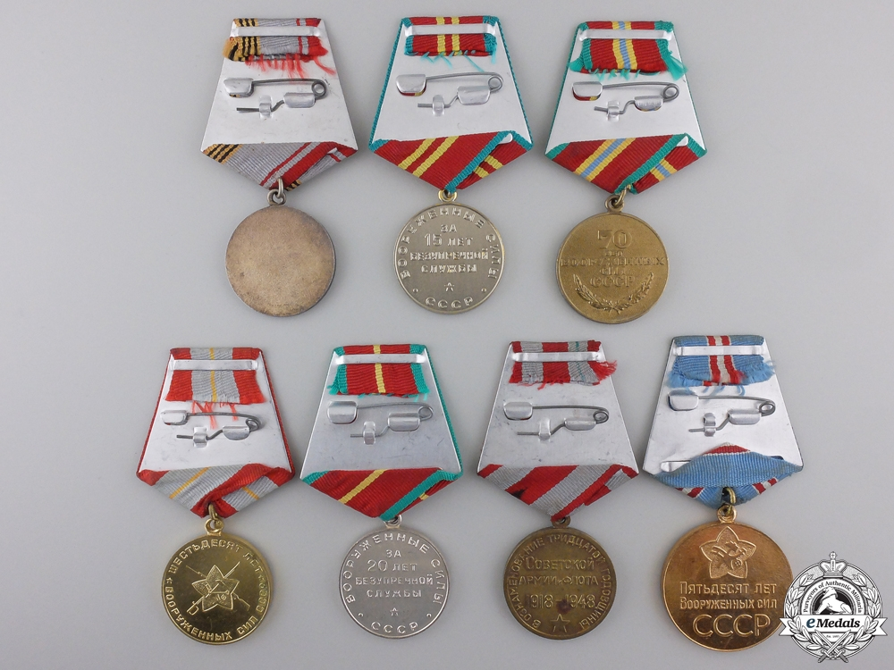 Seven Soviet Russian Armed Forces Medals