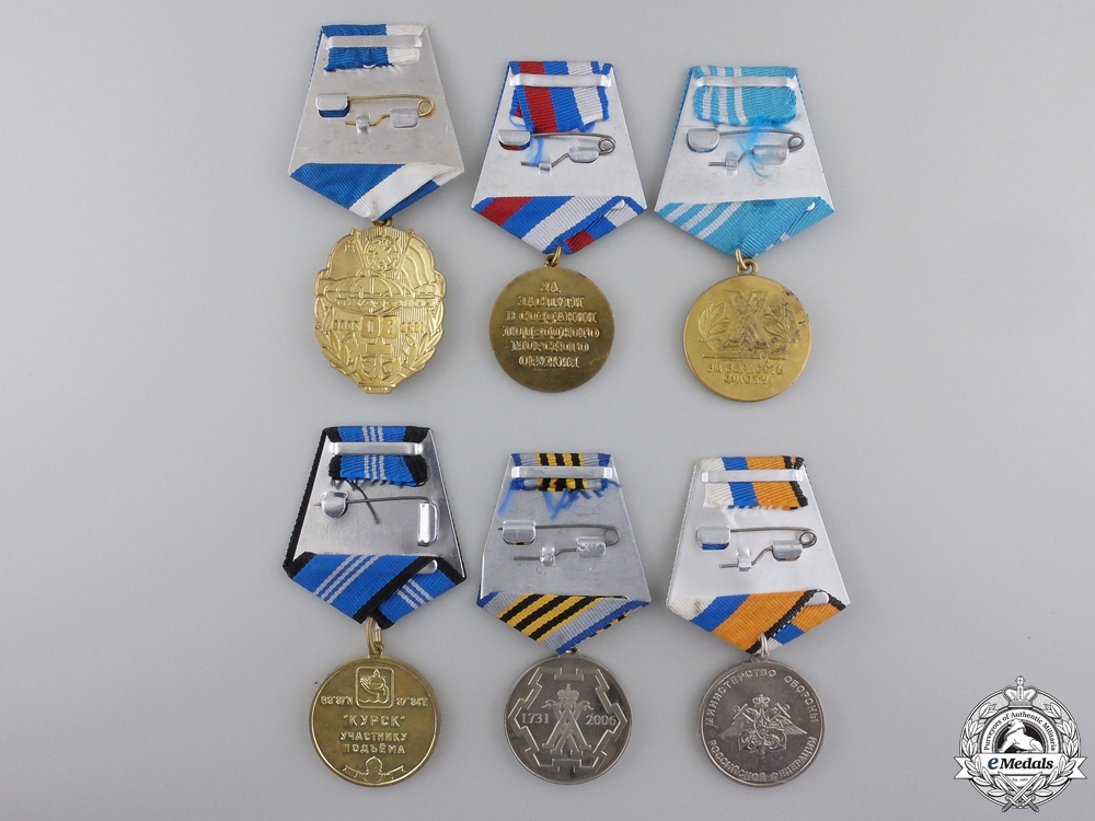 Six Russian Federation Naval Medals