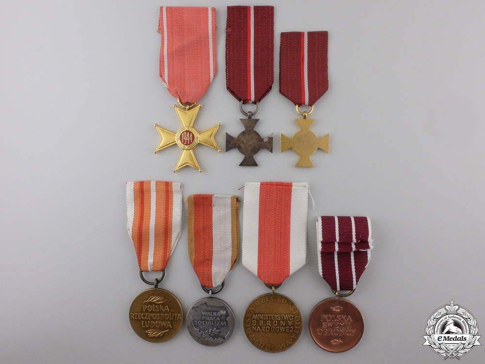 Seven Polish Orders, Medals, and Awards