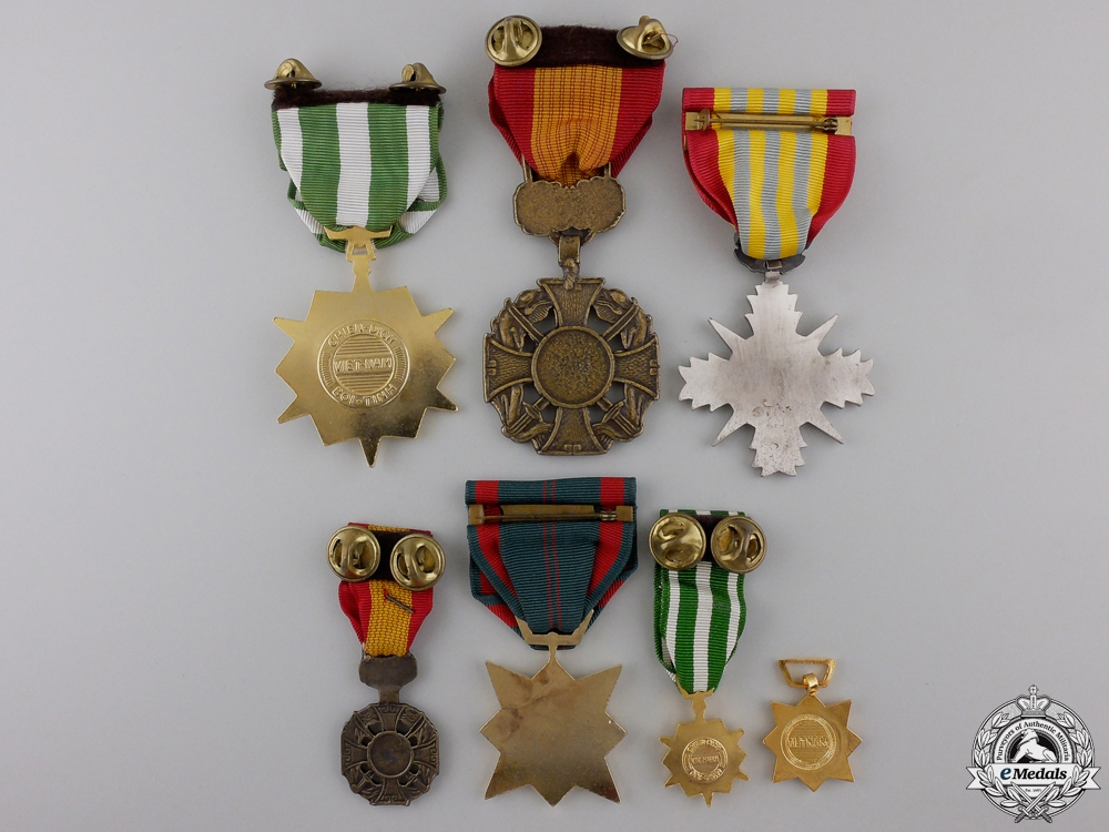 Seven Vietnamese Medals and Awards