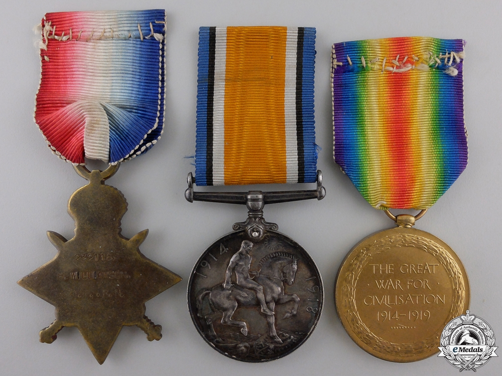 A First War Medal Trio to the Royal Navy