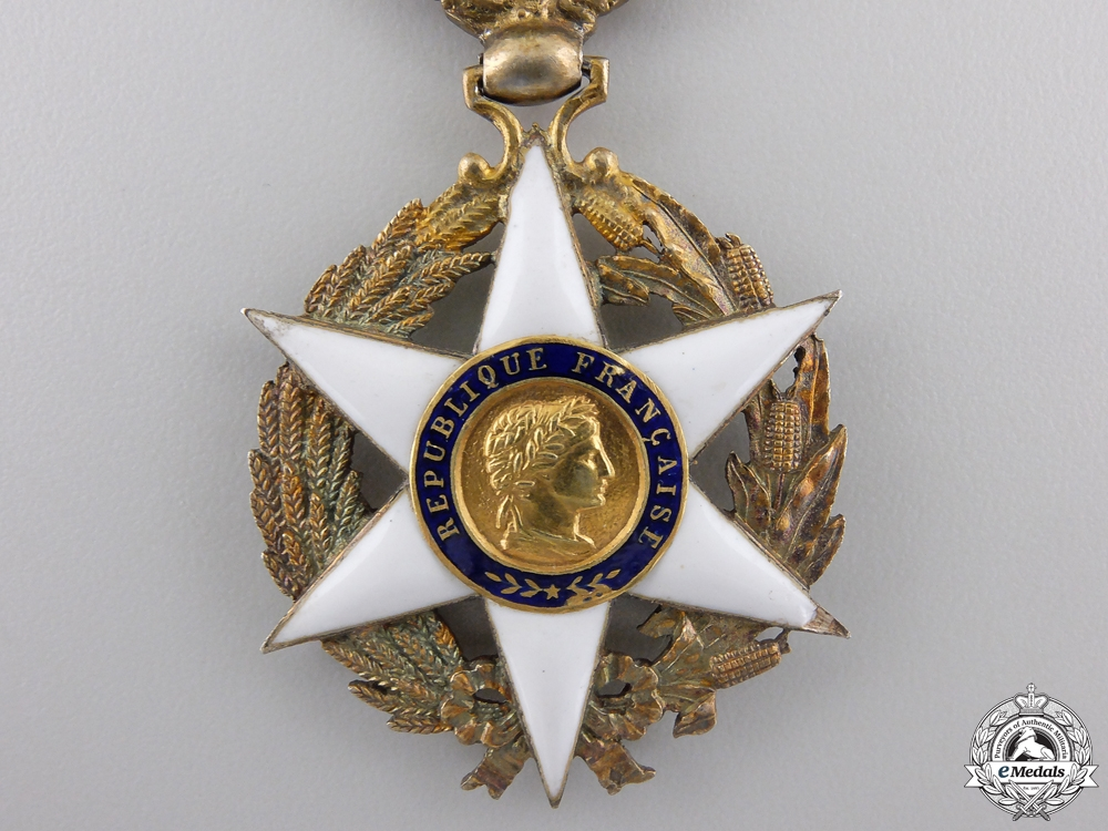 A French Order of Agricultural Merit; Officer