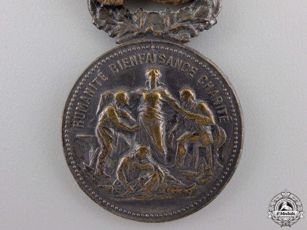 A French National Academy of Dedication Medal for Merit in War