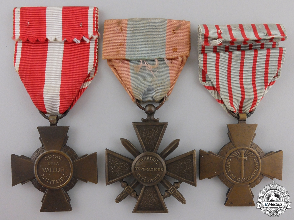 Three French Military Crosses