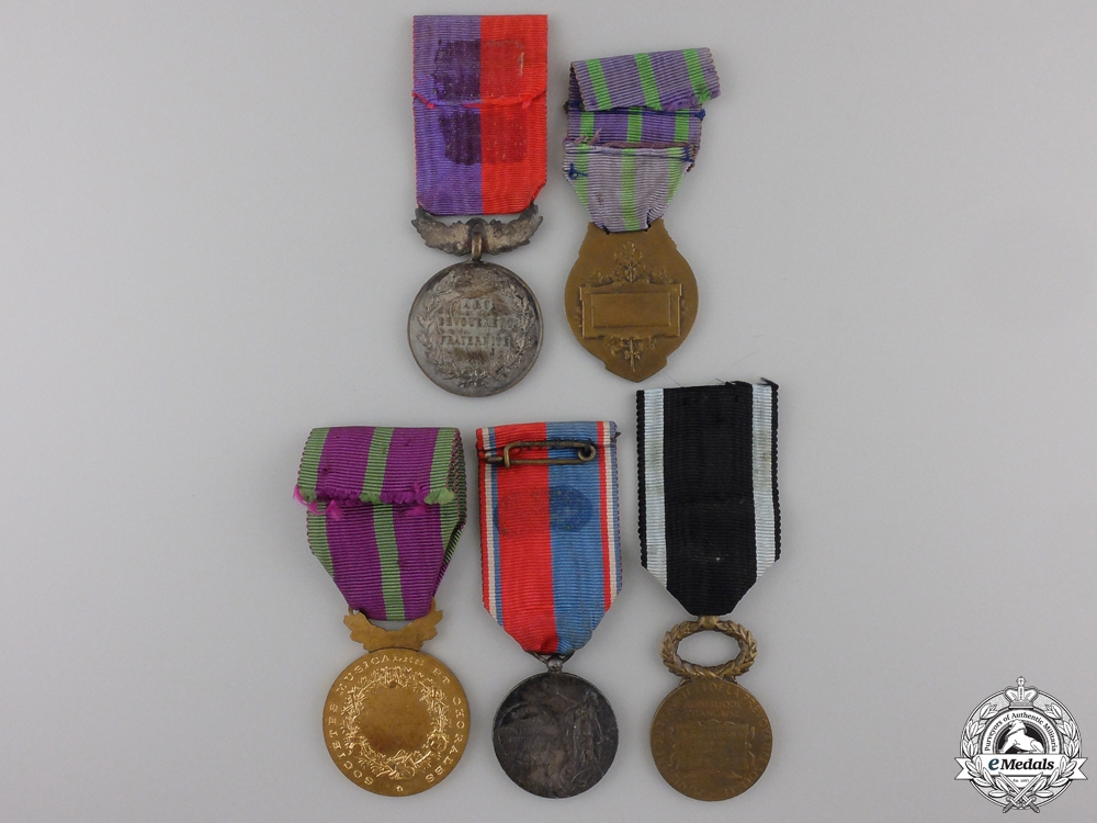 Five French Civil Medals and Awards