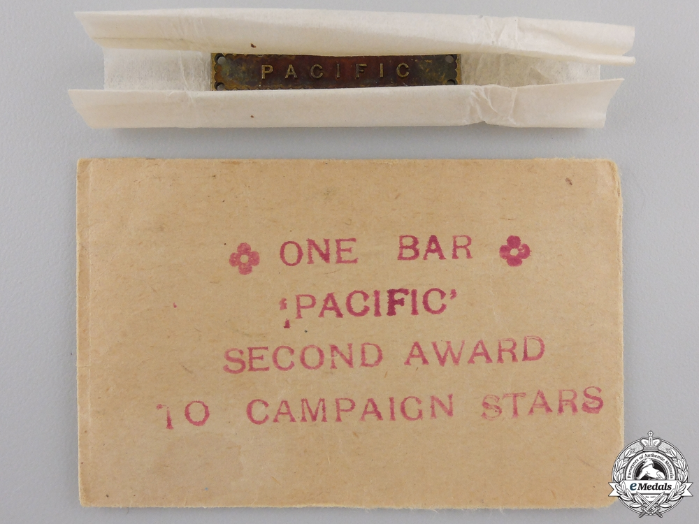 A Unissued Second War Pacific Campaign Bar