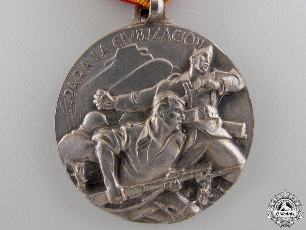 An 1937 Italian Battle of Bilbao Campaign Medal