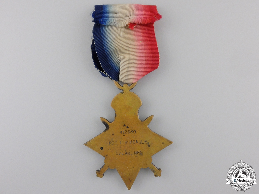 A 1914-15 Star to the 2nd Battalion; Wounded on the Somme