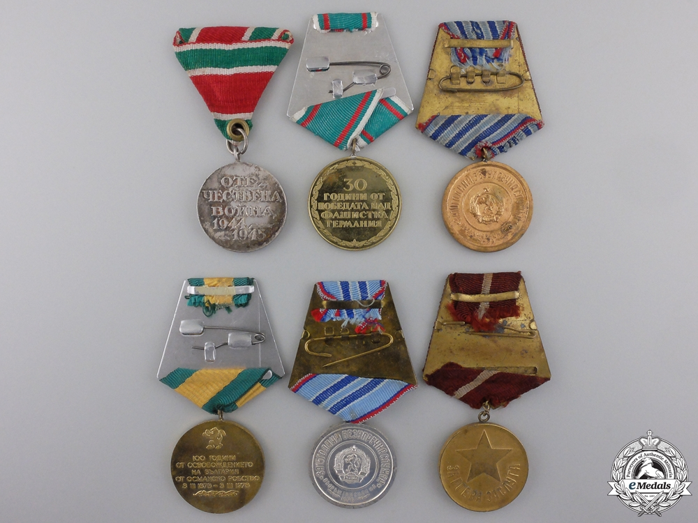 Six Bulgarian Medals and Awards