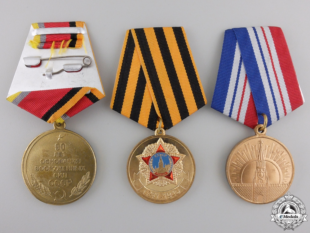 Three Russia Federation Medals and Awards