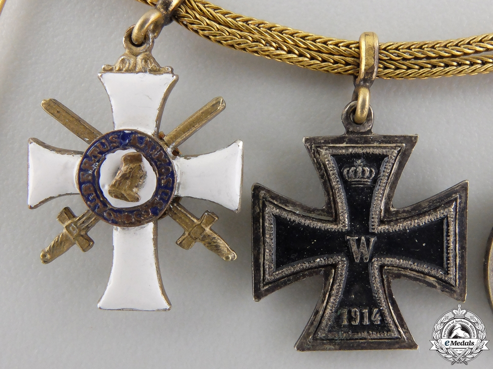 A First War German Imperial Miniature Chain