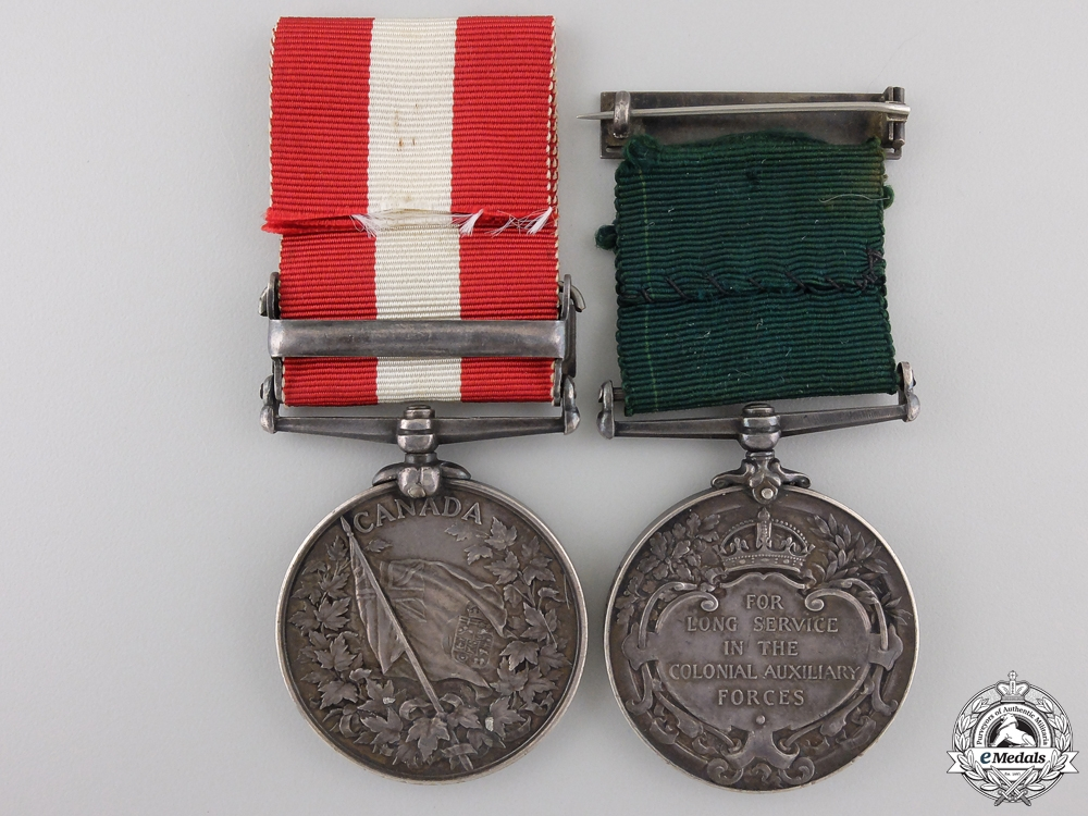 A Canadian Long Service Pair to the St.John Volunteer Battalion