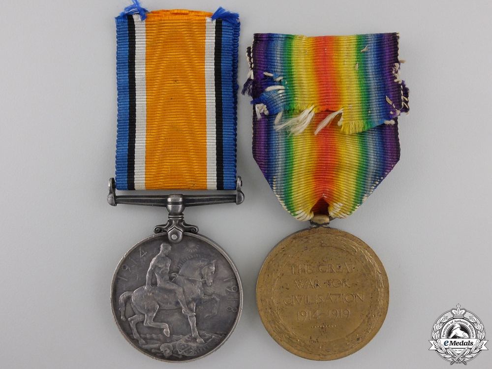 A First War Medal Pair to the 20th Canadian Infantry
