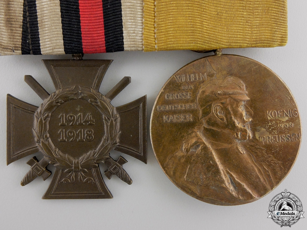A First War German Imperial Medal Pair
