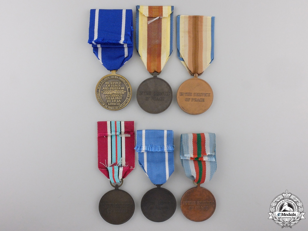 Six United Nations & NATO Medals