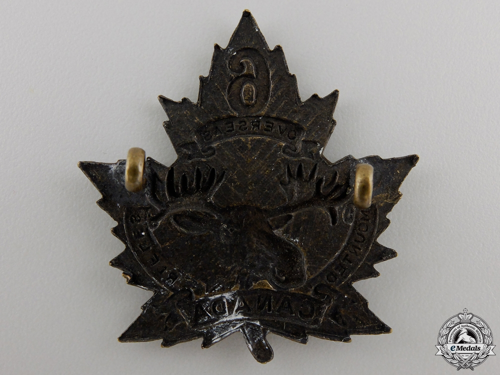 A First War 6th Mounted Rifle Battalion Cap Badge