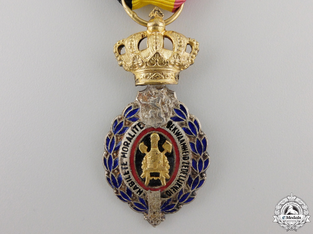 A Belgium Decoration for Workers and Artisans; First Class
