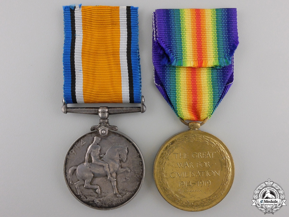 A First War Pair to the 1st Canadian Infantry
