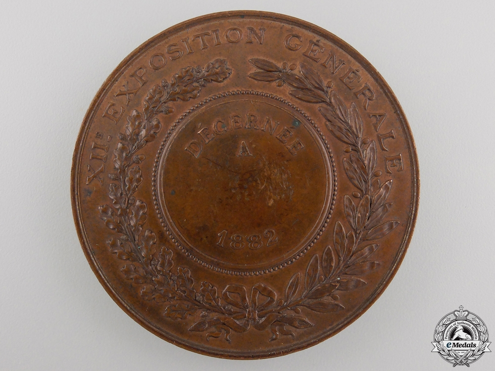A 1882 French Bordeaux Philomatic Society Table Medal Award