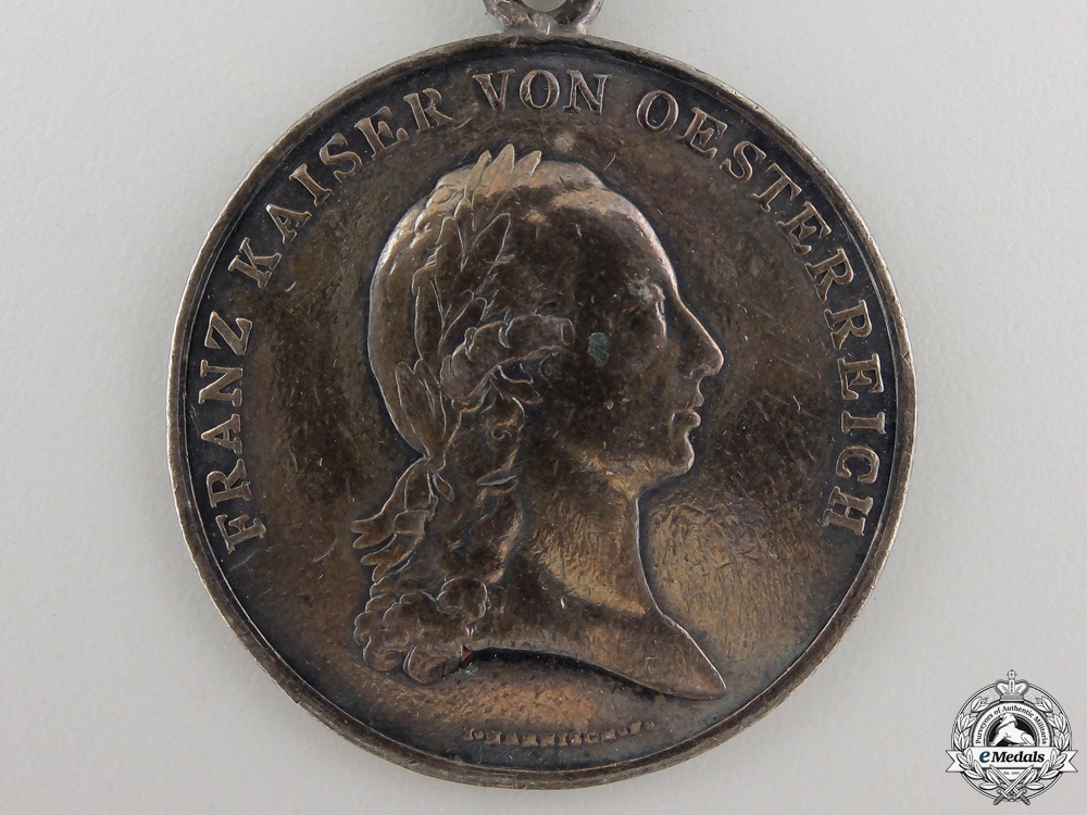 A Napoleonic Period Austrian Silver Bravery Medal